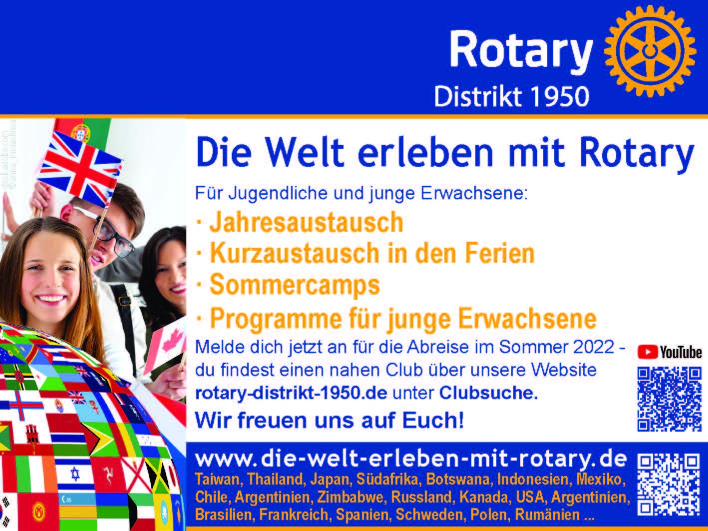Die Welt erleben mit Rotary